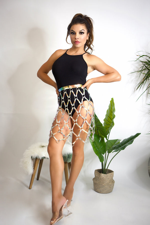 SHAKE IT OFF Sexy Criss Cross Belt Skirt