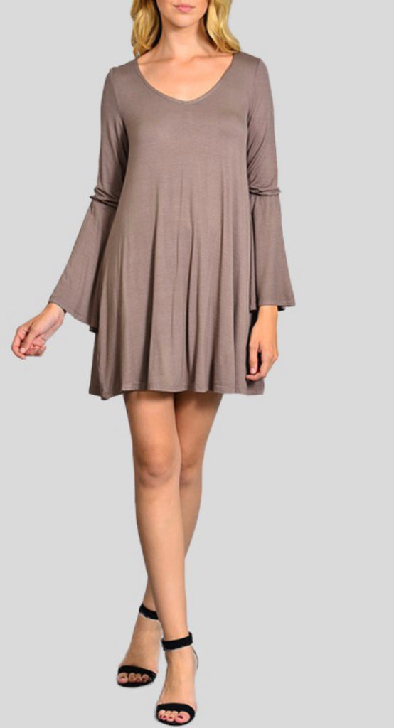 CHANGE Bohemian Bell Sleeve Dress