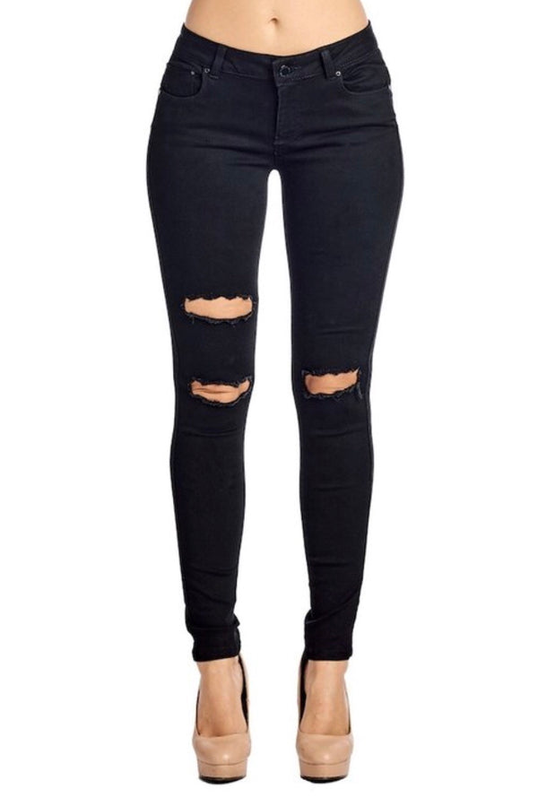 TORN Black Stretch Jeans