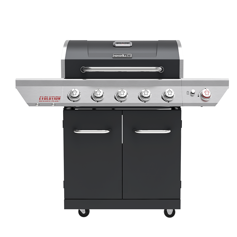 Evolution 5-Burner Gas Grill with Searing Side Burner and Infrared Technology in Charcoal
