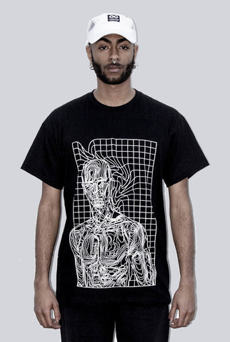 THE GRID HUMANOID BLACK TEE