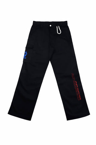 WORLD WIDE RIOT BLACK  CARGO PANTS