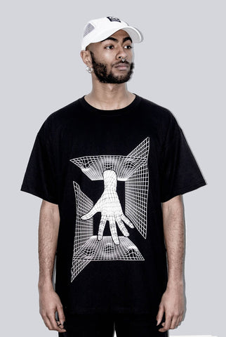 THE GRID HAND WHITE TEE