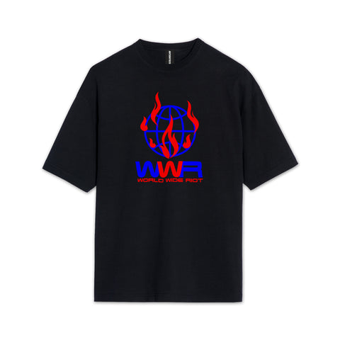 WORLD WIDE RIOT BLACK T-SHIRT
