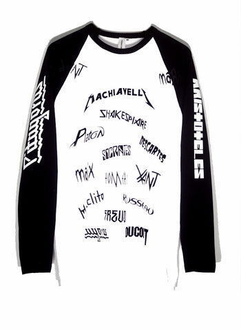 HEAVY MENTAL B&W LONG TEE