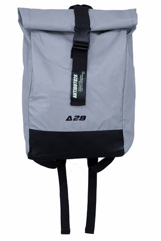 ROLL TOP GRAY REFLEXTIVE BACKPACK