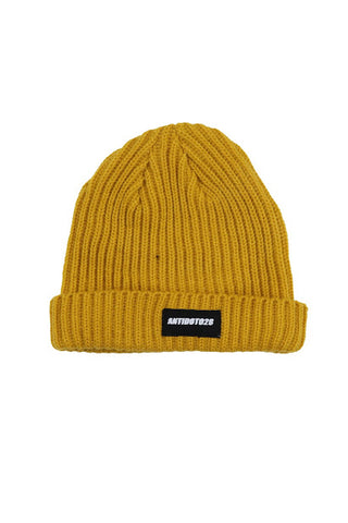 BEANIE MUSTARD COLOR