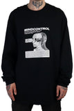 MIND CONTROL LONG SLEEVE T-SHIRT BLACK