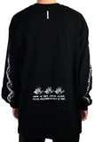 MAINDCONTROL LONG SLEEVE T-SHIRT BLACK
