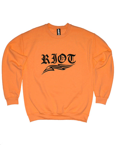 RIOT UNISEX ORANGE SWEATSHIRT
