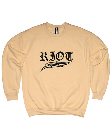 RIOT UNISEX YELLOW SWEATSHIRT