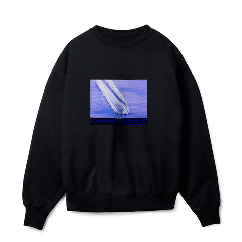 CHEMTRAILS AIRLINES BLACK SWEATSHIRT
