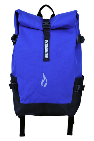 ROLL TOP BLUE BACKPACK