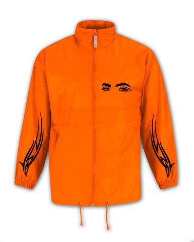 TRIBAL EYES ORANGE WIND COAT