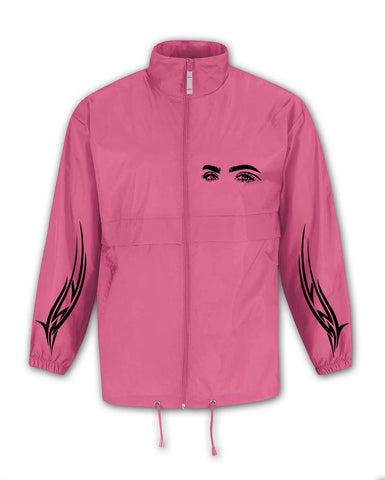 TRIBAL EYES PINK WIND COAT