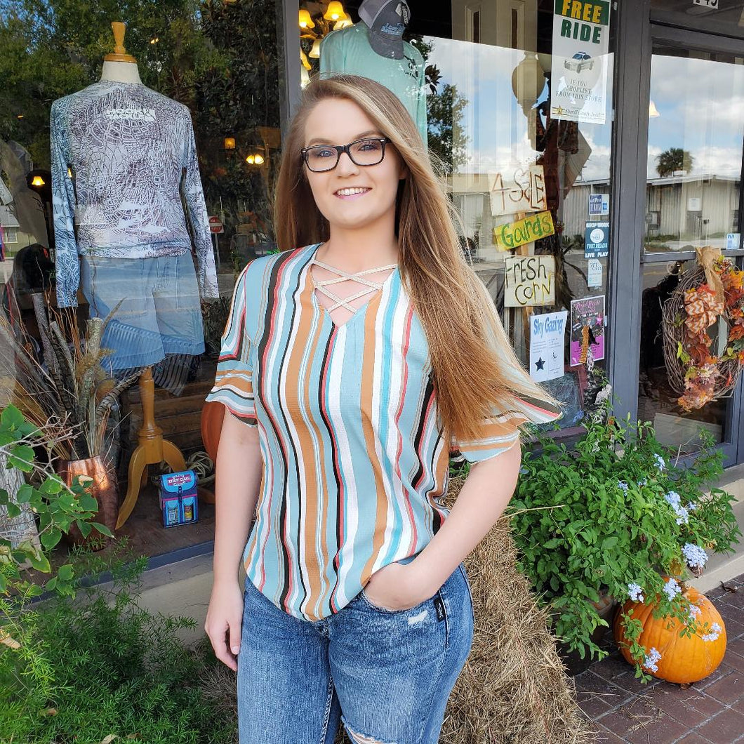 Multi Stripped blouse by Grace and Emma
