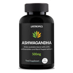 Ashwagandha extract (2.5% Withanolides), 500mg vegetable capsules - Lifetropics