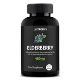 Elderberry extract, 460mg vegetable capsules - Lifetropics