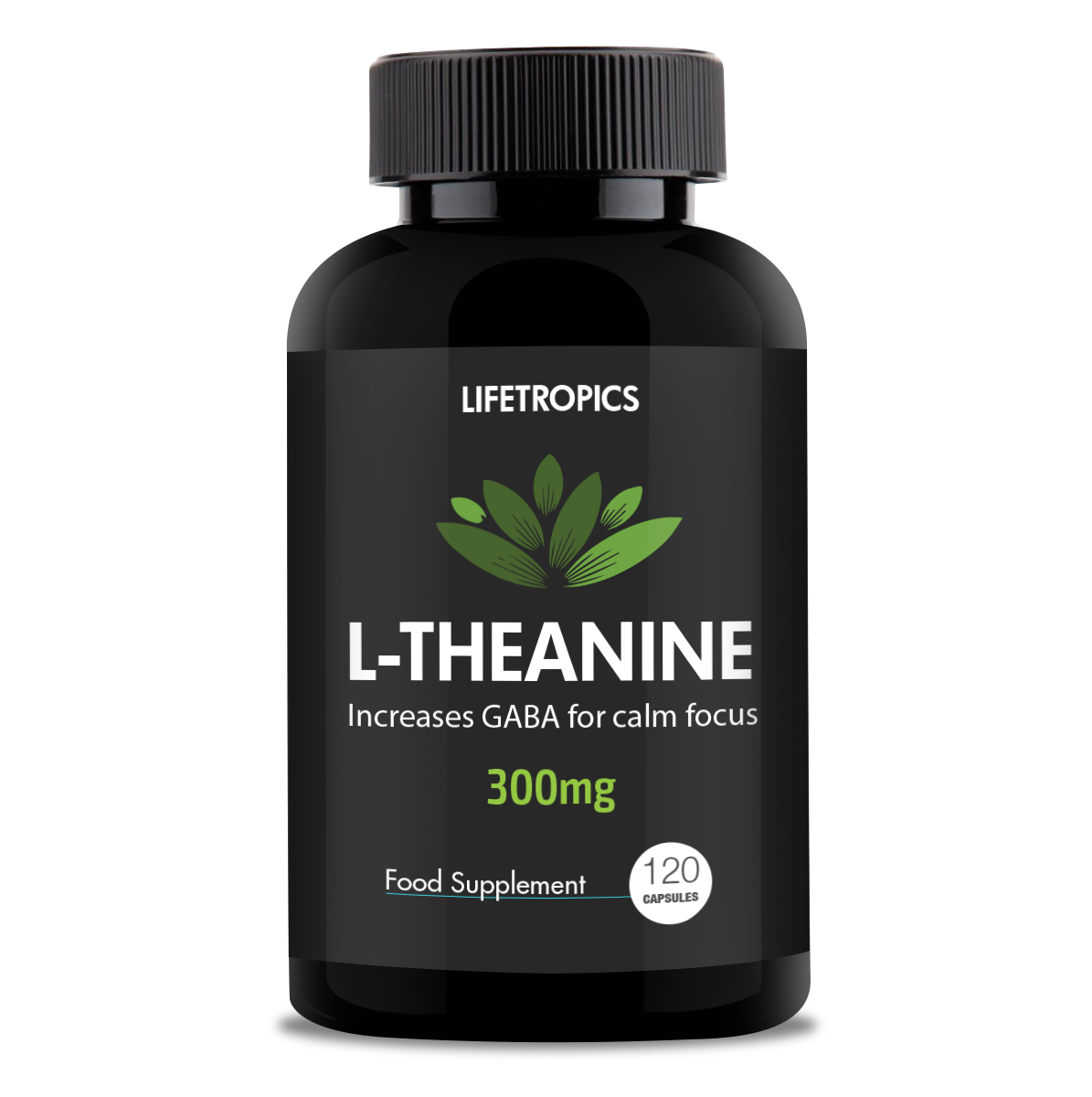 L-Theanine, 300mg vegetable capsules - Lifetropics