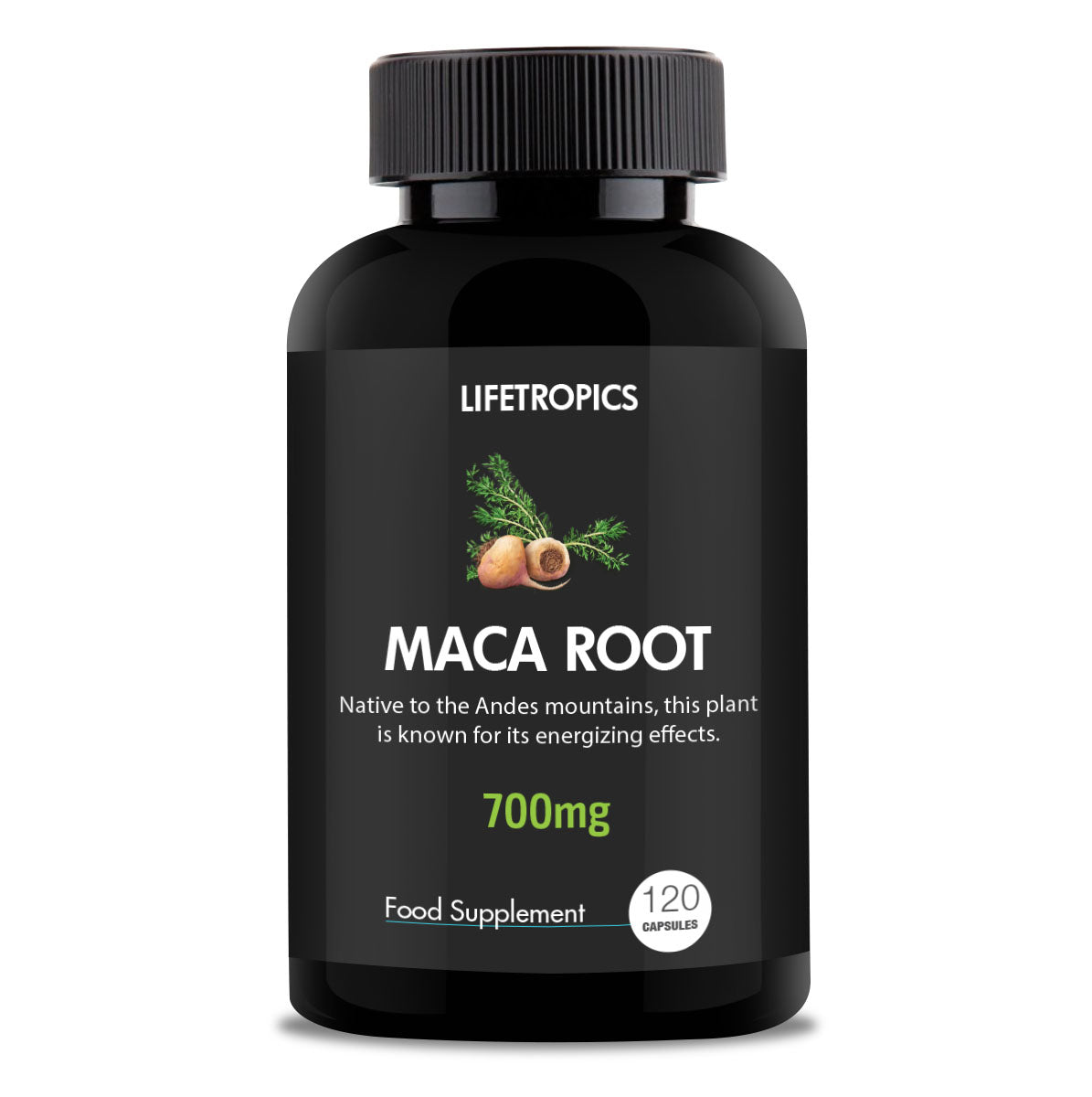 Maca Root extract, 700mg vegetable capsules - Lifetropics