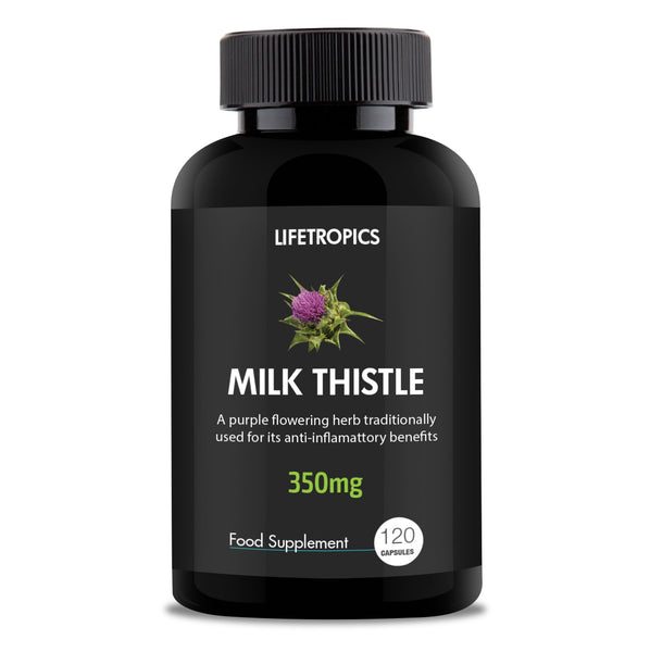 Milk Thistle extract, 350mg vegetable capsules - Lifetropics