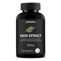 Sage extract, 500mg vegetable capsules - Lifetropics