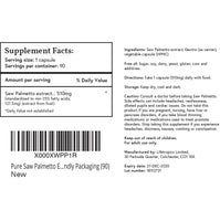Saw Palmetto extract, 510mg vegetable capsules - Lifetropics