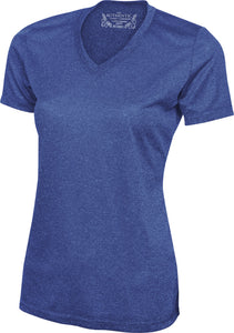 ATC™ PRO TEAM HEATHER ProFORMANCE V-NECK LADIES' TEE. L3517