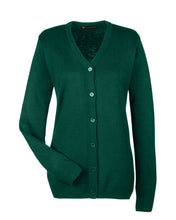 Harriton Ladies' Pilbloc™ V-Neck Button Cardigan Sweater. M425W