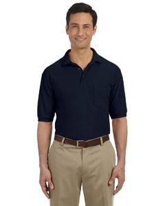 Harriton 5.6 oz. Easy Blend™ Polo with Pocket