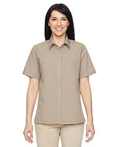 Harriton Ladies' Advantage Snap Closure Short-Sleeve Shirt