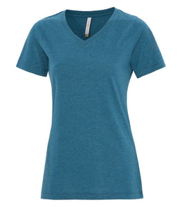 ATC™ EUROSPUN® RING SPUN V-NECK LADIES' TEE. ATC8001L