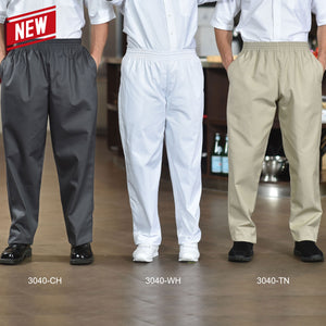 Poly/Cotton Baggy Chef Pants. 3040