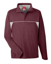 Team 365 Men's Excel Mélange Interlock Performance Quarter-Zip Top. TT26