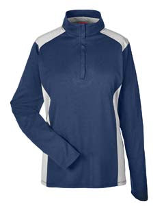 Team 365 Ladies' Excel Mélange Interlock Performance Quarter-Zip Top. TT26W