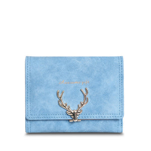 Christmas Deer Vintage Leather Wallet