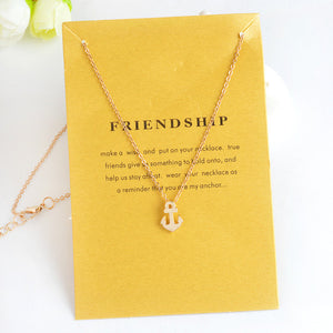 Anchor Hollow Heart Triangle Necklace