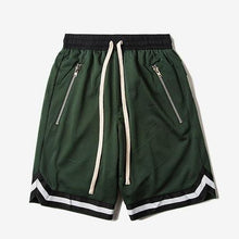 Mesh Zipper Drop Crotch Shorts