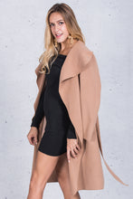 Casual Ruffle Warm Turndown Coat