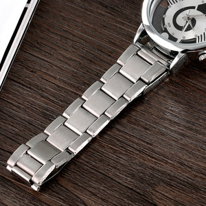 Music Note Notation Stainless Steel Watch