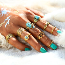 Stone Flowers Mehindi Rings Set/ Bohemian Inspired