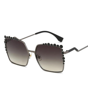 Aviation Rimmed Designer Square Sunglasses