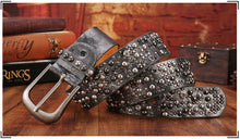 Unisex Rivet Studded Leather Belt