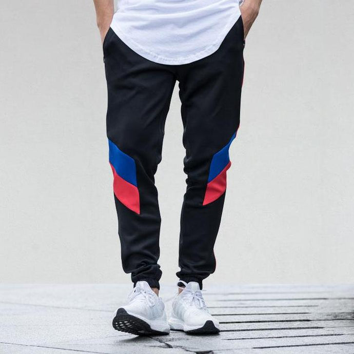 Colour Block Patchwork Striped SweatPants