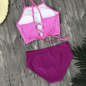 Switchback High Neck Push Up Swimsuit