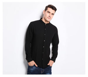 Slim Fit Mandarin Collar Grade Shirt
