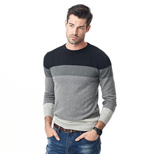 Spliced Top O - Neck Pullover Sweater