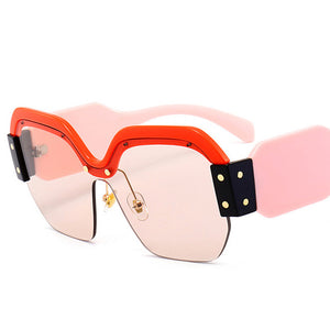 Retro Rimless Square Luxury Sunglasses