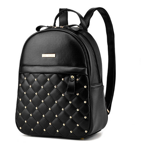 High Quality Beaded Shoulder Leather Backpack