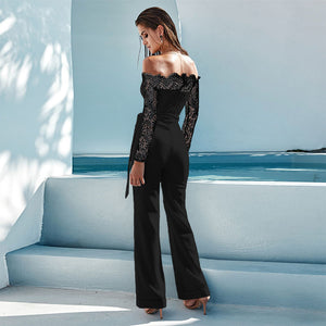 Sexy Off Shoulder Long Sleeve Jumpsuit